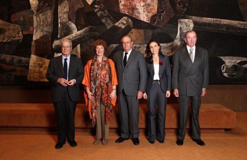 Eileen Rockefeller, Antonio Garrigues, Juan March y Leopoldo Rodes