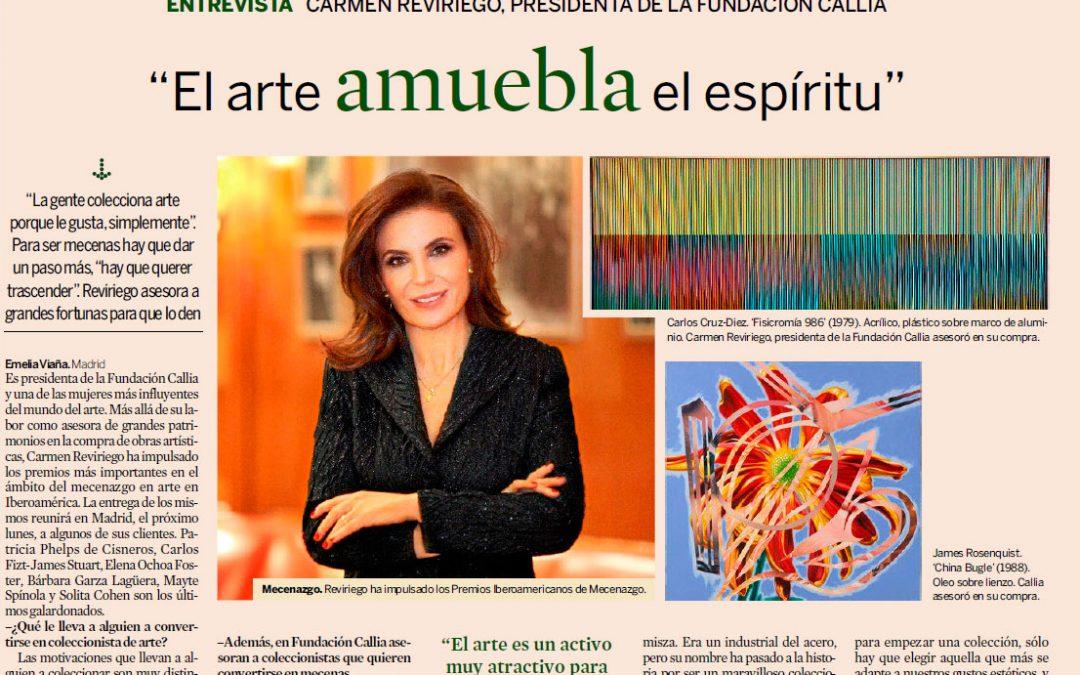 EXPANSIÓN. CARMEN REVIRIEGO, EL ARTE AMUEBLA EL ESPÍRITU