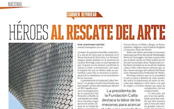 Revista Código. Entrevista a Carmen Reviriego. Héroes al Rescate del Arte